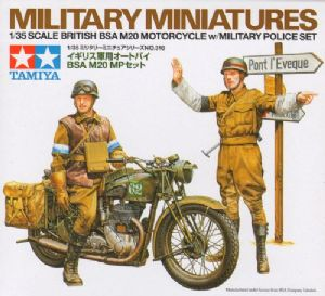 TA35316 BSA M20 Motorcycle with British Military Police